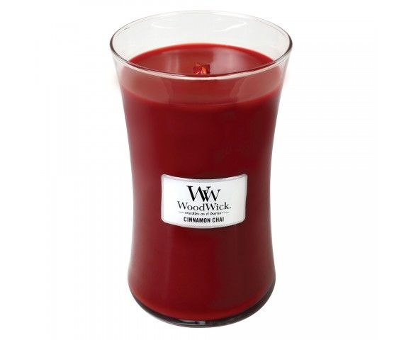 woodwick large candle cinnamon chai