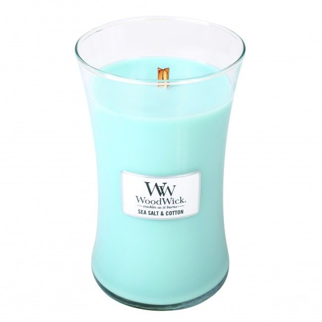 Woodwick Large Candle Sea Salt and Cotton