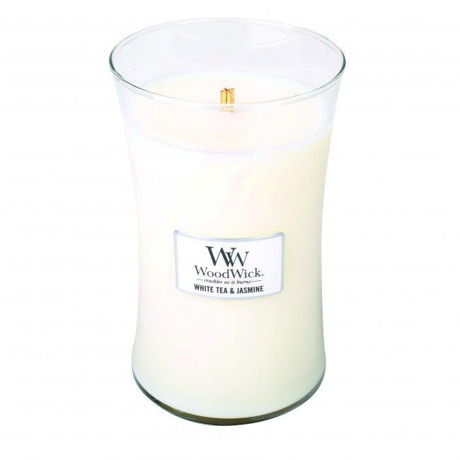 Woodwick Large Candle White Tea and Jasmine