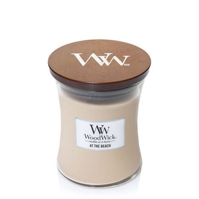 woodwick at the beach medium candle geurkaars