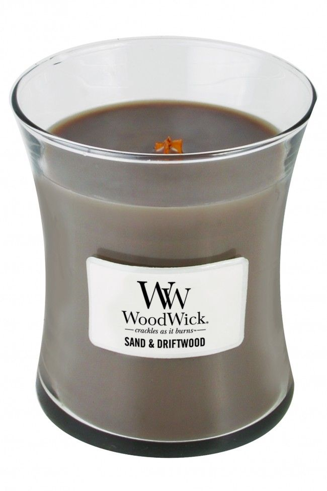 Woodwick Medium Candle Sand and Driftwood
