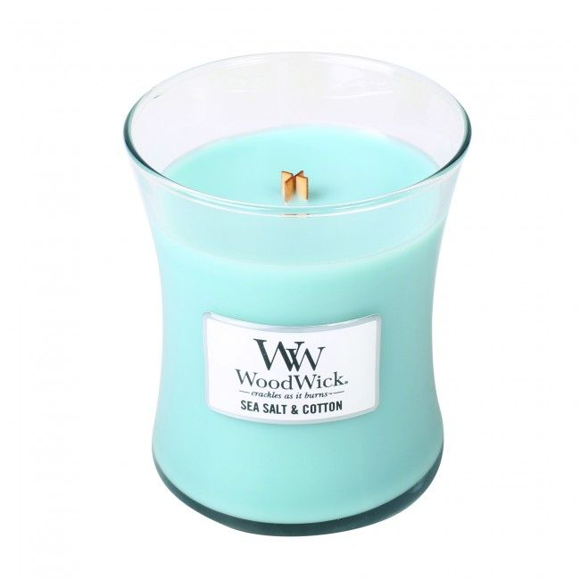 Woodwick Medium Candle Sea Salt and Cotton