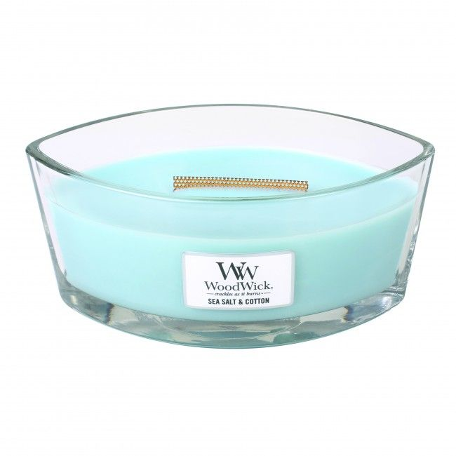 Woodwick HearthWick Flame Ellips Sea Salt and Cotton
