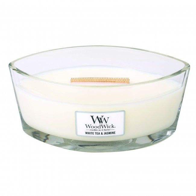 Woodwick HearthWick Flame Ellips White Tea and Jasmine