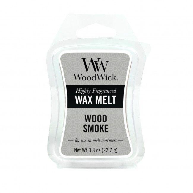 Woodwick Mini Wax Melt Wood Smoke