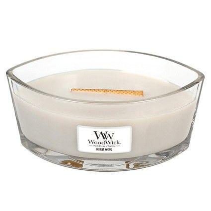 Woodwick HearthWick Flame Ellips Warm Wool