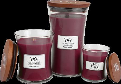 woodwick black cherry geurkaarsen nederland belgie