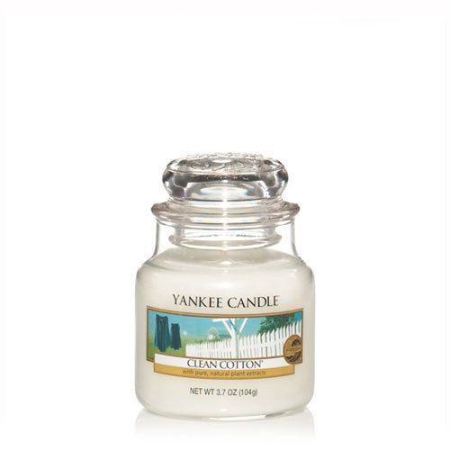 yankee candle clean cotton small jar geurkaars