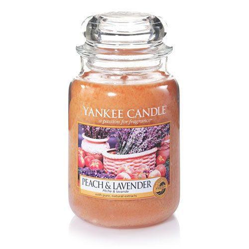 yankee candle peach lavender large jar geurkaars