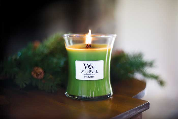 woodwick evergreen geurkaarsen