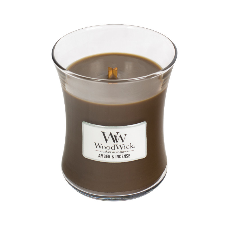 Woodwick Medium Candle Amber & Incense