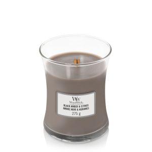Woodwick Medium Candle Black Amber & Citrus