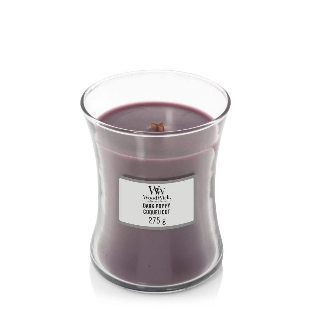Woodwick Medium Candle Dark Poppy