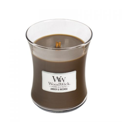 Woodwick Amber Incense Medium Candle Geurkaars