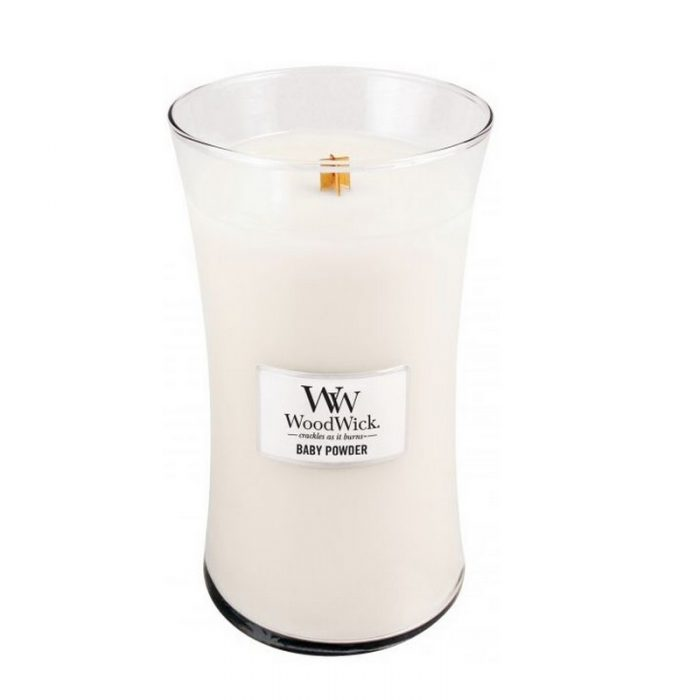 Woodwick Baby Powder Large Candle Geurkaars