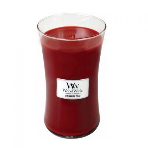 Woodwick Cinnamon Chai Large Candle Geurkaars