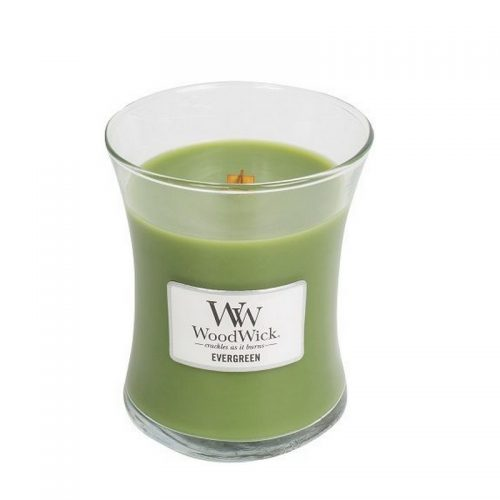 Woodwick Evergreen Medium Candle Geurkaars