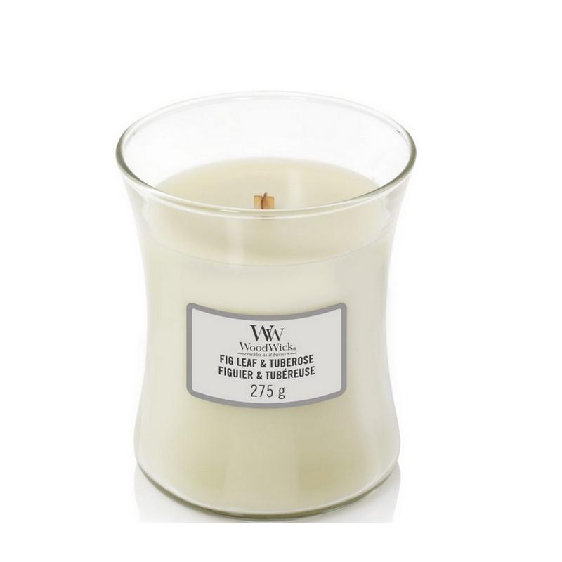 Woodwick Medium Candle Fig Leaf & Tuberose