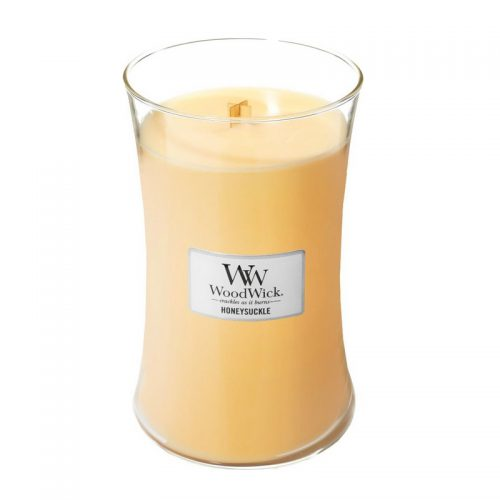 Woodwick Honeysuckle Large Candle Geurkaars