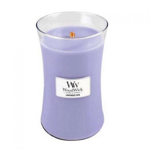 Woodwick Lavender Spa Large Candle Geurkaars