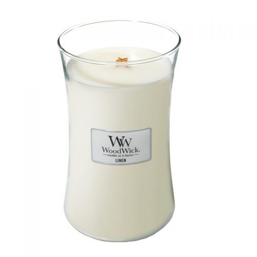 Woodwick Linen Large Candle Geurkaars