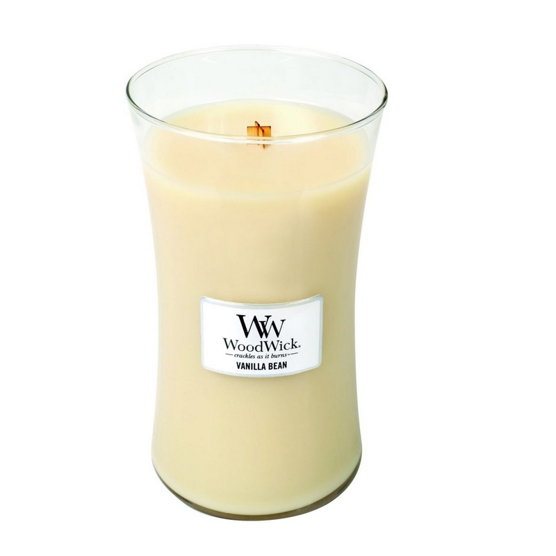 Woodwick Vanilla Bean Large Candle Geurkaars