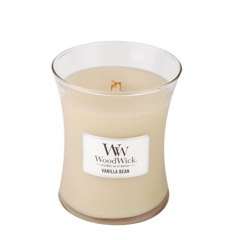 Woodwick Vanilla Bean Medium Candle Geurkaars