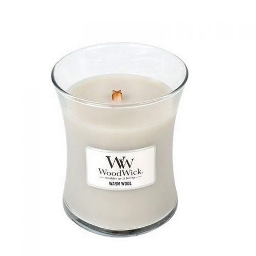 Woodwick Warm Wool Medium Candle Geurkaars