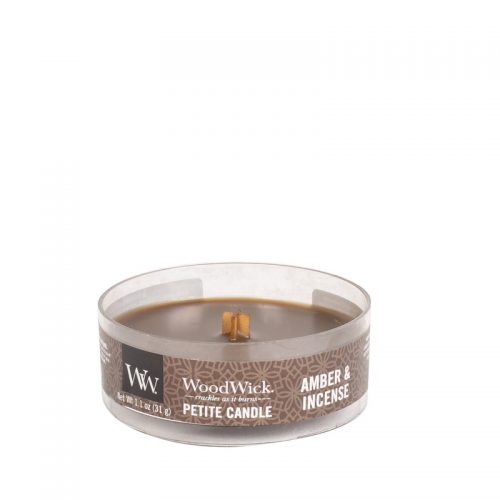 Woodwick Amber Incense Petite Candle