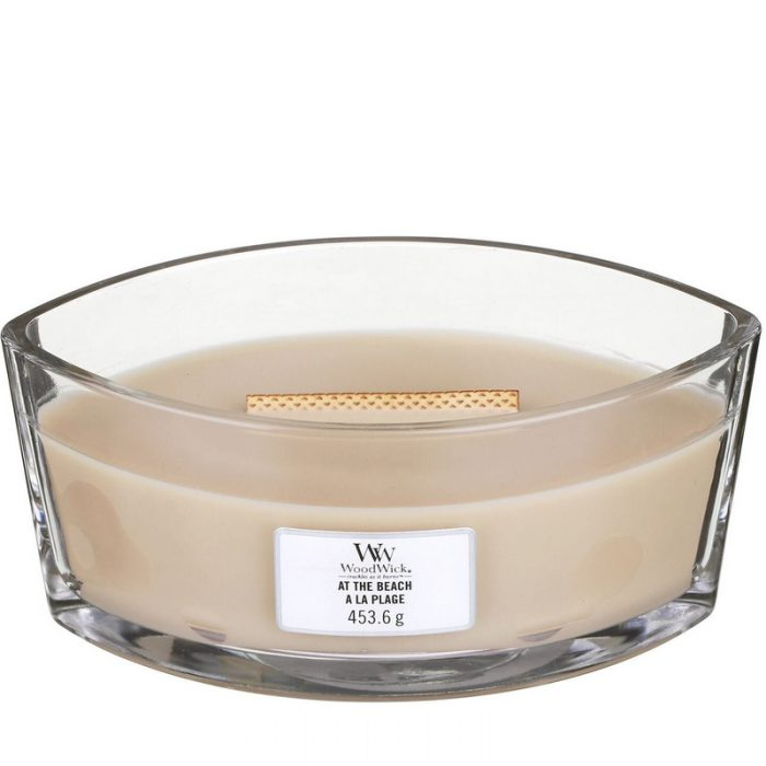 Woodwick At The Beach Heartwick Flame Ellipse Geurkaars