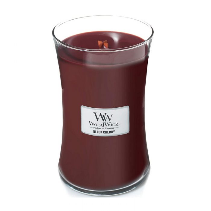 Woodwick Black Cherry Large Candle Geurkaars