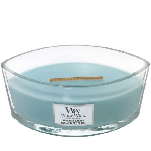 Woodwick Blue Java Banana Heartwick Flame Ellipse Geurkaars