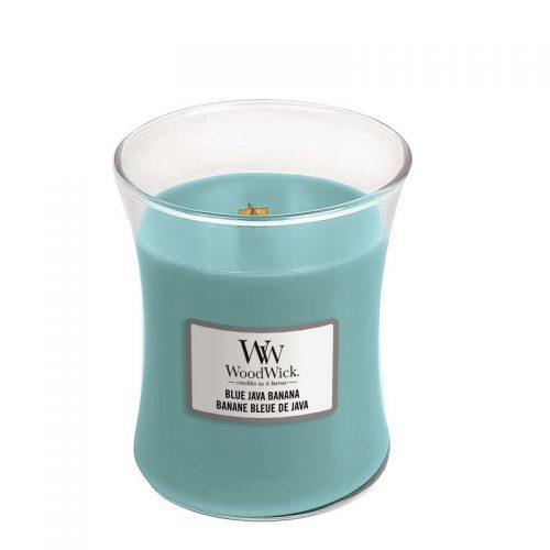 Woodwick Blue Java Banana Medium Candle