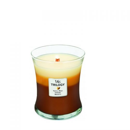 Woodwick Cafe Sweets Trilogy Medium Candle Geurkaars