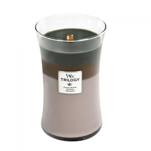 Woodwick Cozy Cabin Trilogy Large Candle Geurkaars