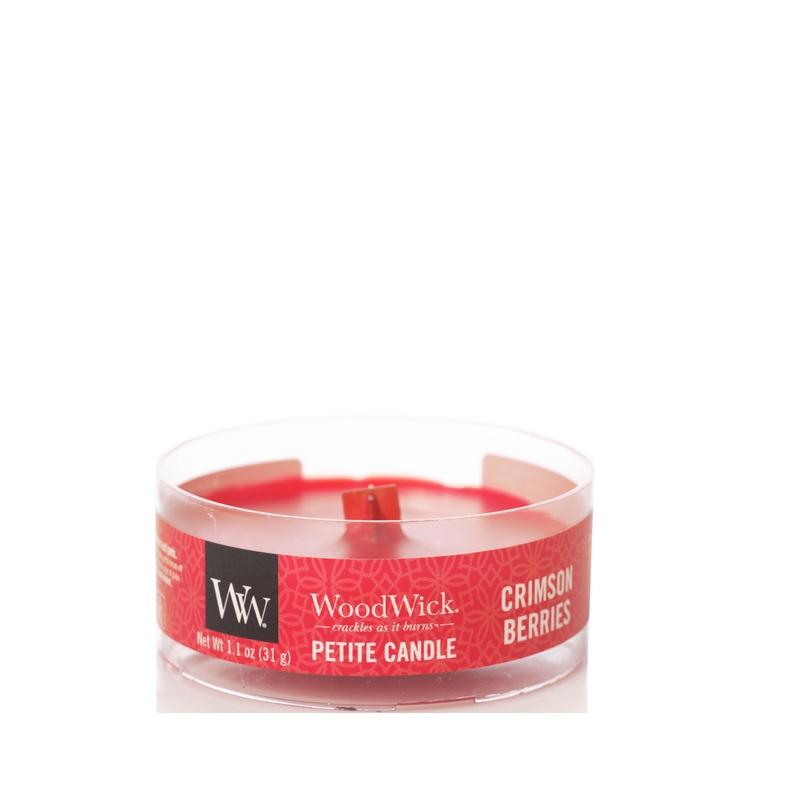 WoodWick Crimson Berries Petite Candle