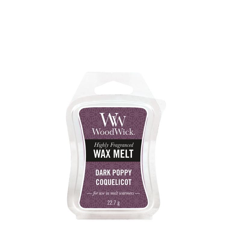 Woodwick Dark Poppy Mini Wax Melt