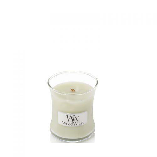 Woodwick Fig Leaf Tuberose Mini Candle