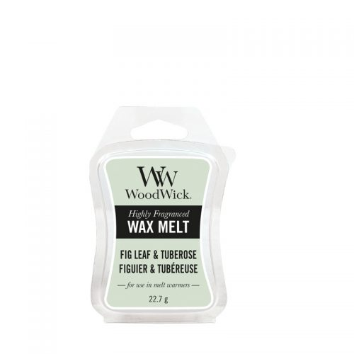 Woodwick Fig Leaf Tuberose Mini Wax Melt