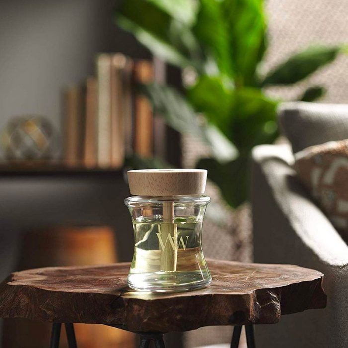 woodwick fireside spill proof home fragrance diffuser