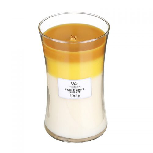 Woodwick Fruits Of Summer Trilogy Large Candle Geurkaars