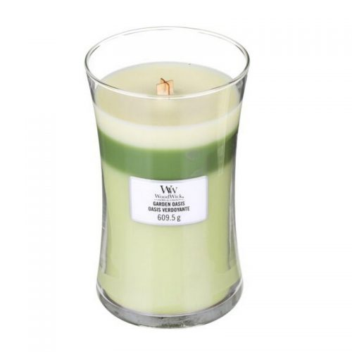 Woodwick Garden Oasis Trilogy Large Candle Geurkaars