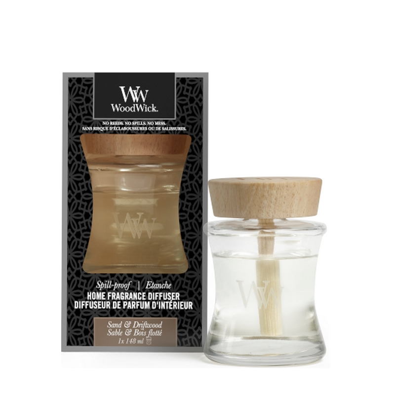 woodwick sand driftwood spill proof home fragrance diffuser