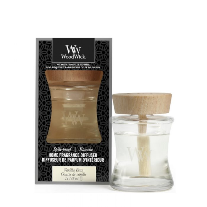 woodwick vanilla bean spill proof home fragrance diffuser