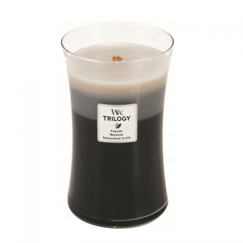 Woodwick Warm Woods Trilogy Large Candle Geurkaars