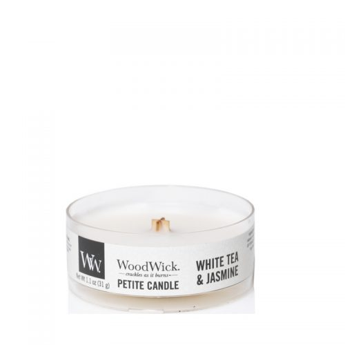 Woodwick White Tea Jasmine Petite Candle