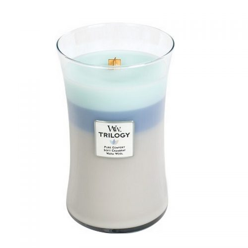 Woodwick Woven Comforts Trilogy Large Candle Geurkaars