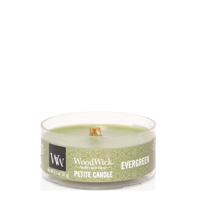 WoodWick Evergreen Petite Candle
