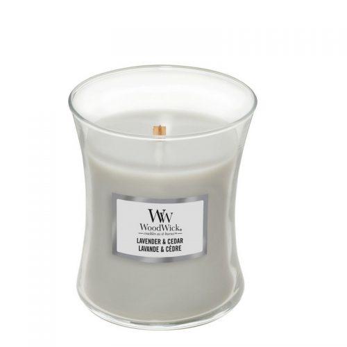 Woodwick Lavender Cedar Medium Candle