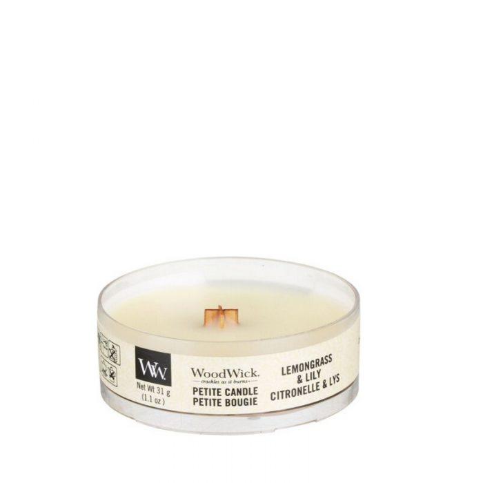 WoodWick Lemongrass Lily Petite Candle